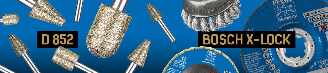 Новые товары PFERD материалы BOSCH X-LOCK и алмазные головки