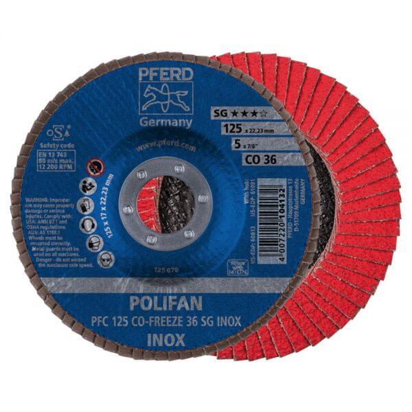 PFERD CO-FREEZE SG INOX лепестковые торцевые круги