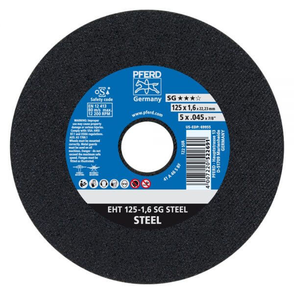 PFERD SG STEEL отрезные круги