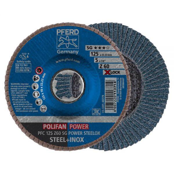 PFERD Z SG POWER STEELOX X-LOCK лепестковые шлифовальные круги